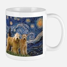 Starry Night & 2 Wheatens Small Small Mug