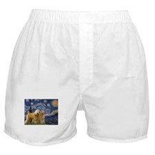 Starry Night & 2 Wheatens Boxer Shorts