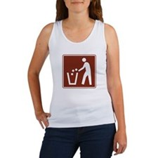 Litter Container Sign Women's Tank Top