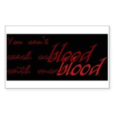 Blood Rectangle Decal