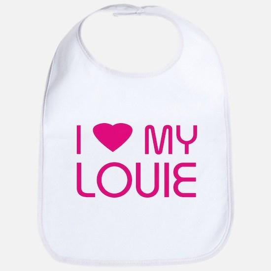 I LOVE MY LOUIE Bib