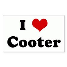 I Love Cooter Rectangle Decal