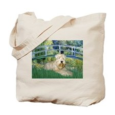 Lily Bridge & Wheaten Terrier Tote Bag