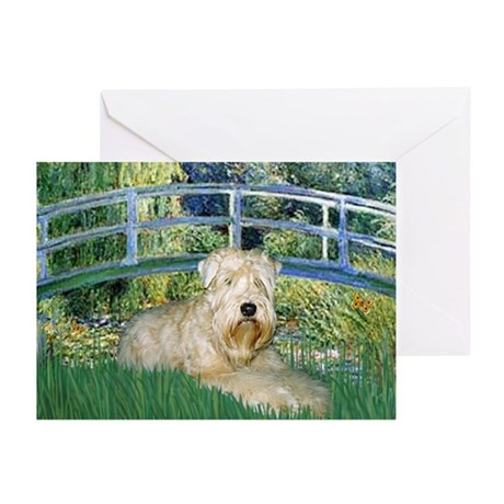 Lily Bridge & Wheaten Terrier Greeting Cards (Pack