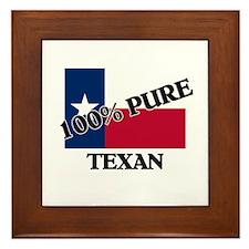 100 Percent Texan Framed Tile