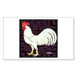 Leghorn Rooster Rectangle Sticker 50 pk)