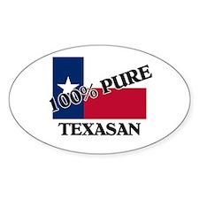 100 Percent Texasan Oval Decal