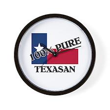 100 Percent Texasan Wall Clock