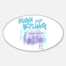 High and Rising Hip Hop Oval Decal