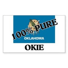 100 Percent Okie Rectangle Decal