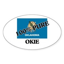 100 Percent Okie Oval Decal