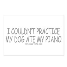 Dog Ate Piano Postcards (Package of 8)