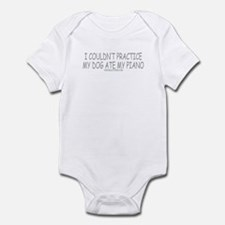 Dog Ate Piano Infant Bodysuit