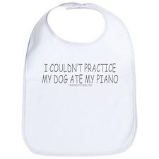 Dog Ate Piano Bib