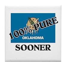 100 Percent Sooner Tile Coaster