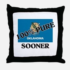 100 Percent Sooner Throw Pillow