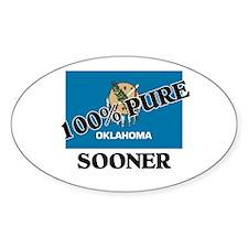 100 Percent Sooner Oval Decal