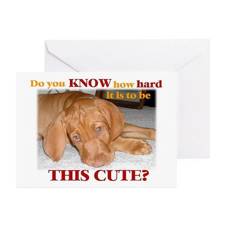 Cute vizsla puppy Greeting Cards (Pk of 10)