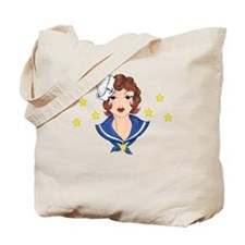 Funny Vintage pin up Tote Bag