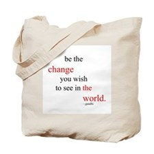 Unique Be the change Tote Bag