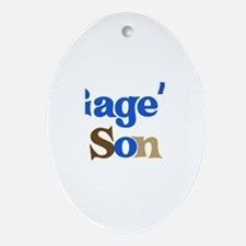Gage's Son Oval Ornament