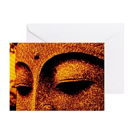GOLD BUDDHA Greeting Cards (Pk of 10)