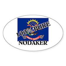 100 Percent Nodaker Oval Decal