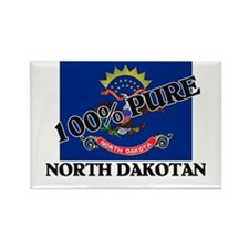 100 Percent North Dakotan Rectangle Magnet