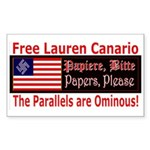 Free Lauren-1 Rectangle Sticker