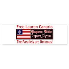 Free Lauren-1 Bumper Bumper Sticker