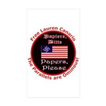 Free Lauren-2 Rectangle Sticker 50 pk)