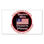 Free Lauren-2 Rectangle Sticker 10 pk)