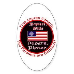 Free Lauren-2 Oval Decal