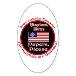 Free Lauren-2 Oval Sticker (10 pk)