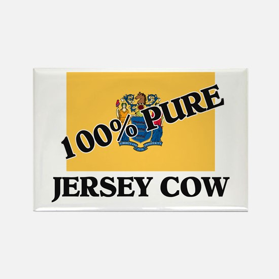 100 Percent Jersey Cow Rectangle Magnet