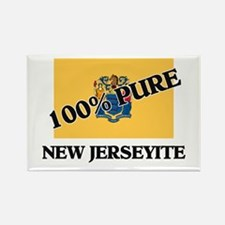 100 Percent New Jerseyite Rectangle Magnet