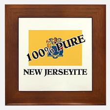 100 Percent New Jerseyite Framed Tile