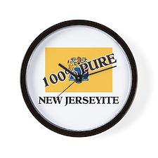 100 Percent New Jerseyite Wall Clock