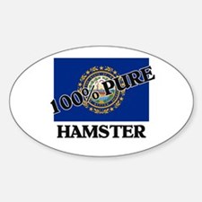 100 Percent Hamster Oval Decal