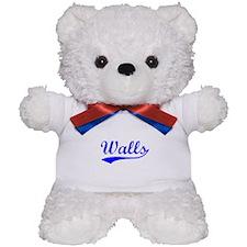 Vintage Walls (Blue) Teddy Bear