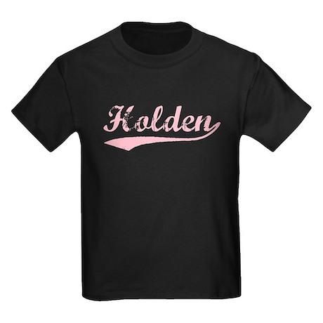 Vintage Holden (Pink) Kids Dark T-Shirt