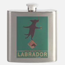 Labrador Brand - Black Lab Flask