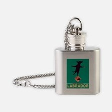 Labrador Brand - Black Lab Flask Necklace