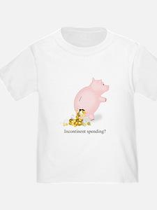 Incontinent Spending Piggy Bank T