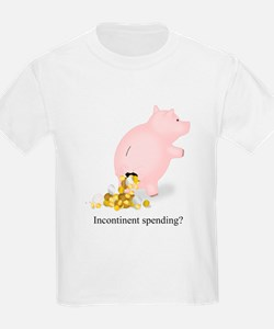 Incontinent Spending Piggy Bank T-Shirt