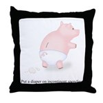 Diaper Incontinent Spending Throw Pillow