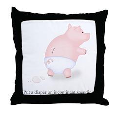 Diaper Incontinent Spending Throw Pillow