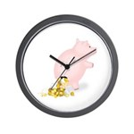 Incontinent Piggy Bank Wall Clock