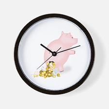Incontinent Piggy Bank Wall Clock