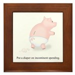 Diaper Incontinent Spending Framed Tile